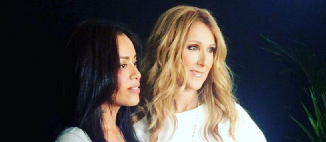 Photos- Amel Bent, amincie et souriante au côté de Céline Dion