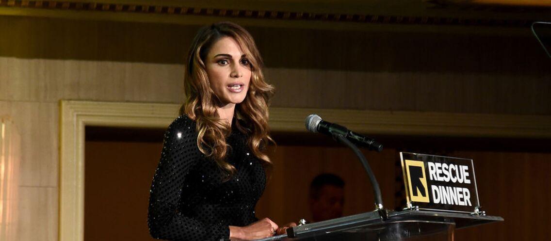 LOOK – Rania de Jordanie, en robe noire scintillante, aussi glamour qu'une star hollywoodienne