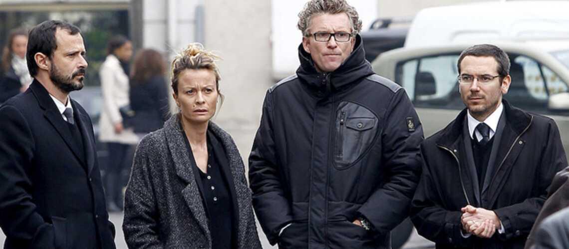Photos- Denis Brogniart assiste à l'enterrement de Gérald Babin