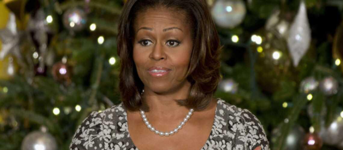 Michelle Obama au secours d'une petite fille