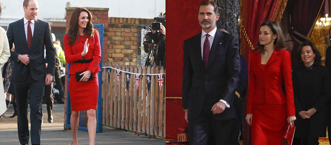 PHOTOS – Kate Middleton et Letizia d'Espagne: qui porte le mieux le tailleur rouge passion?