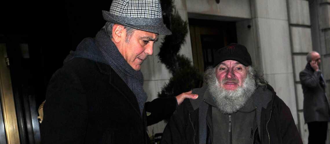 George Clooney, ami avec un SDF de New-York