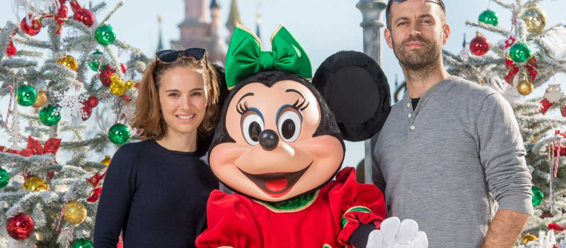 Natalie Portman et Benjamin Millepied: c'est déjà Noël à Disneyland Paris