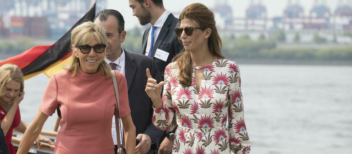 PHOTOS – Brigitte Macron: sa petite robe Louis Vuitton se décline aussi en rose