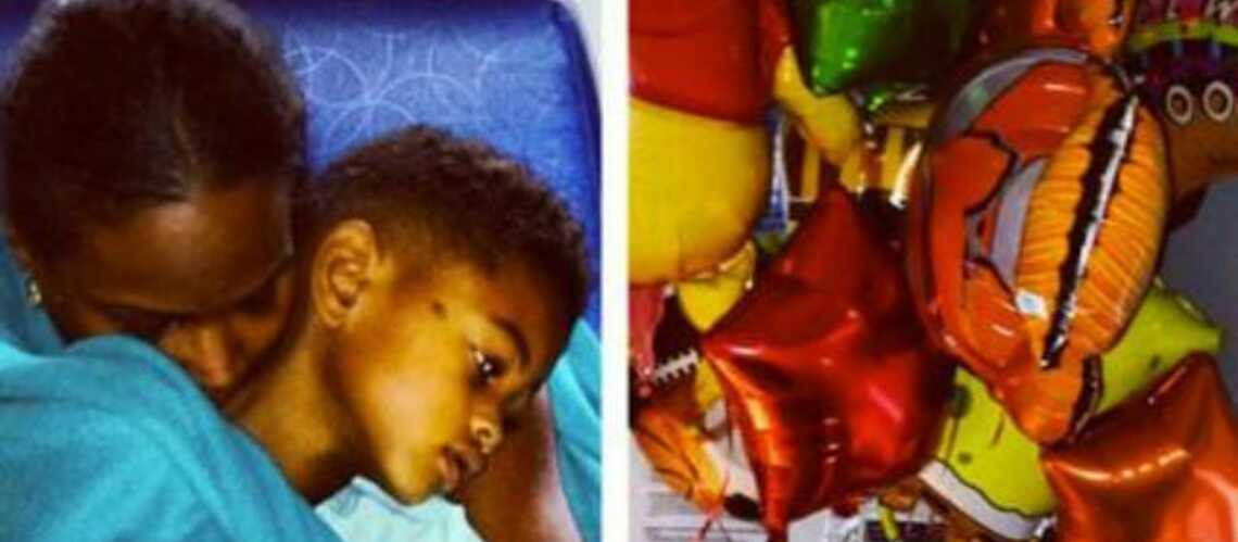 Usher: la photo de son fils hospitalisé