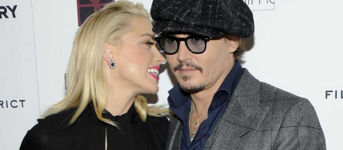 Johnny Depp inséparable d'Amber Heard