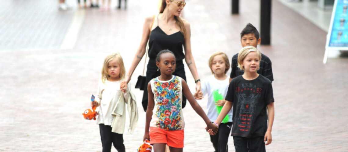 Photos- Angelina Jolie visite l'aquarium de Sydney en famille