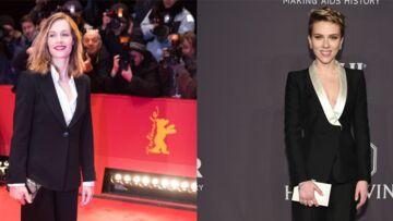 PHOTOS – Cécile de France et  Scarlett Johansson: qui porte le mieux le tailleur?