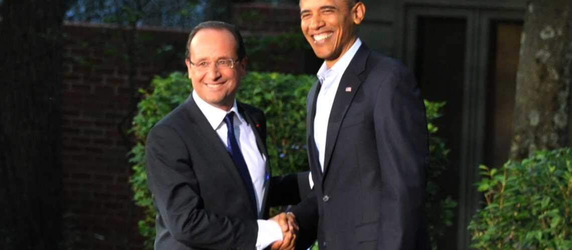 Photos- François Hollande et Barack Obama en goguette