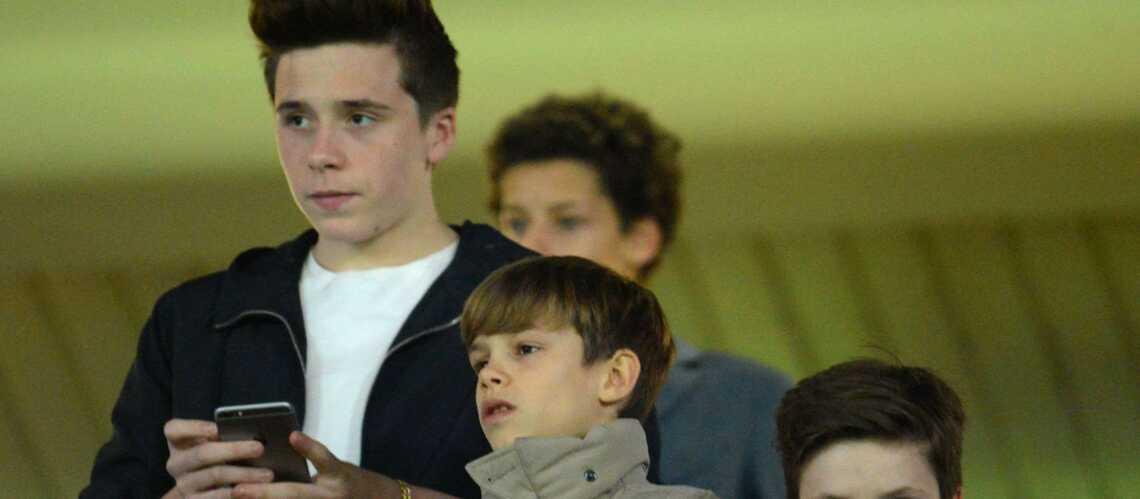 Brooklyn, Roméo et Cruz Beckham ont vibré pour le PSG