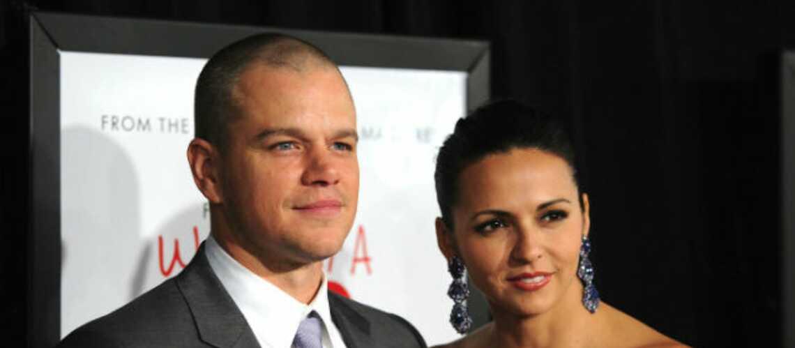 Matt Damon toujours amoureux de sa femme