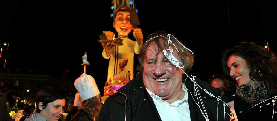 Photos- Gérard Depardieu extatique au carnaval de Nice