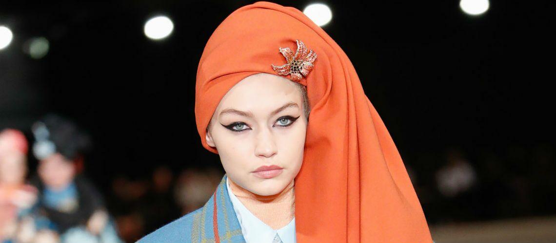 PHOTOS – Kendall Jenner, Kaia Gerber et Bella Hadid défilent en turbans colorés pour Marc Jacobs