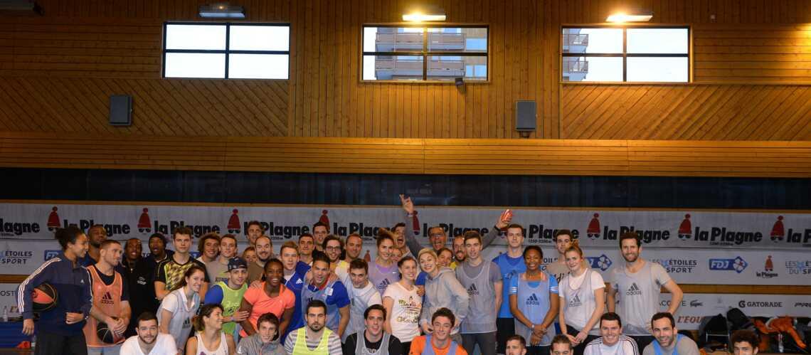 Étoiles du Sport 2014, jour 2: Basket avec Florent Manaudou