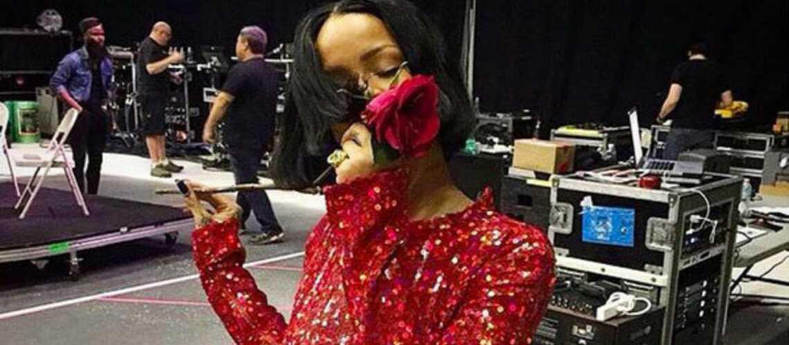 Rihanna, jolie rose en Nina Ricci
