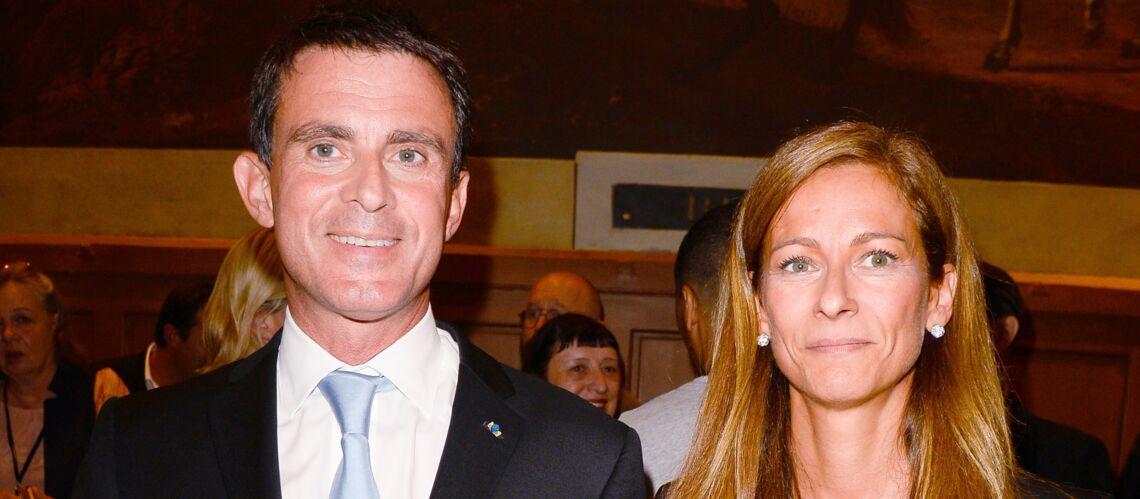 PHOTOS- Manuel Valls et son épouse Anne Gravoin, main dans la main et complices avant le débat