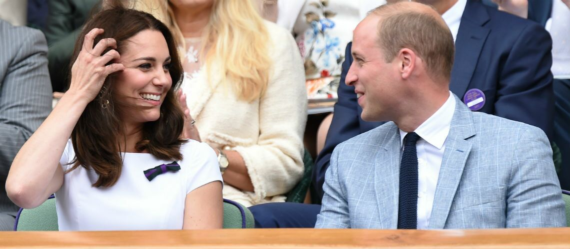 PHOTOS – Kate Midd­le­ton et le prince William craquants à Wimble­don