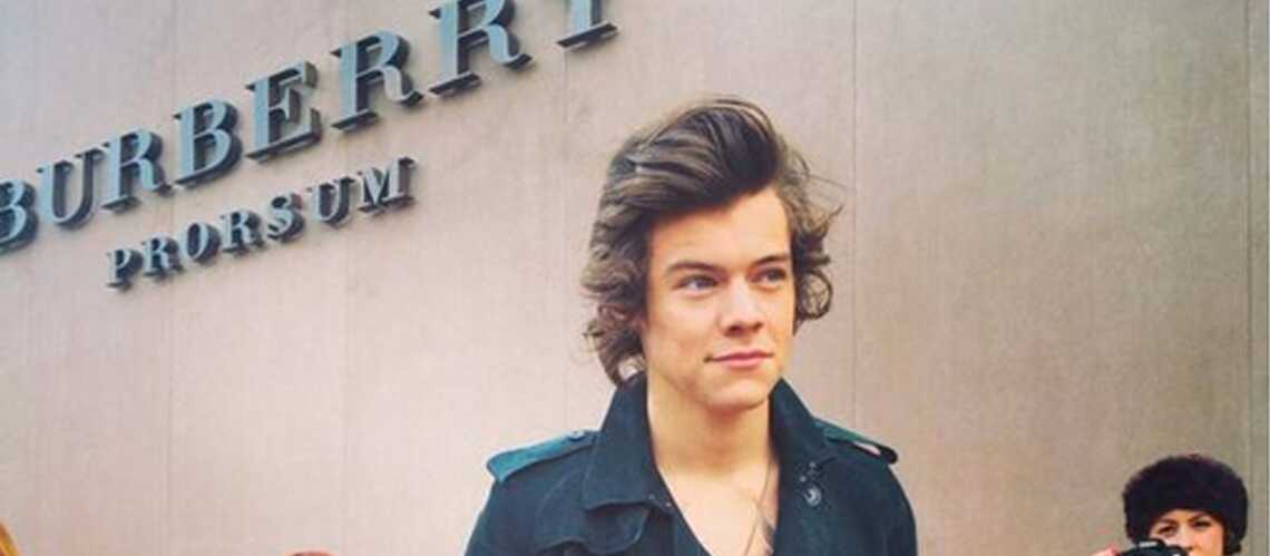 Harry Styles au défilé Burberry de la Fashion Week à Londres