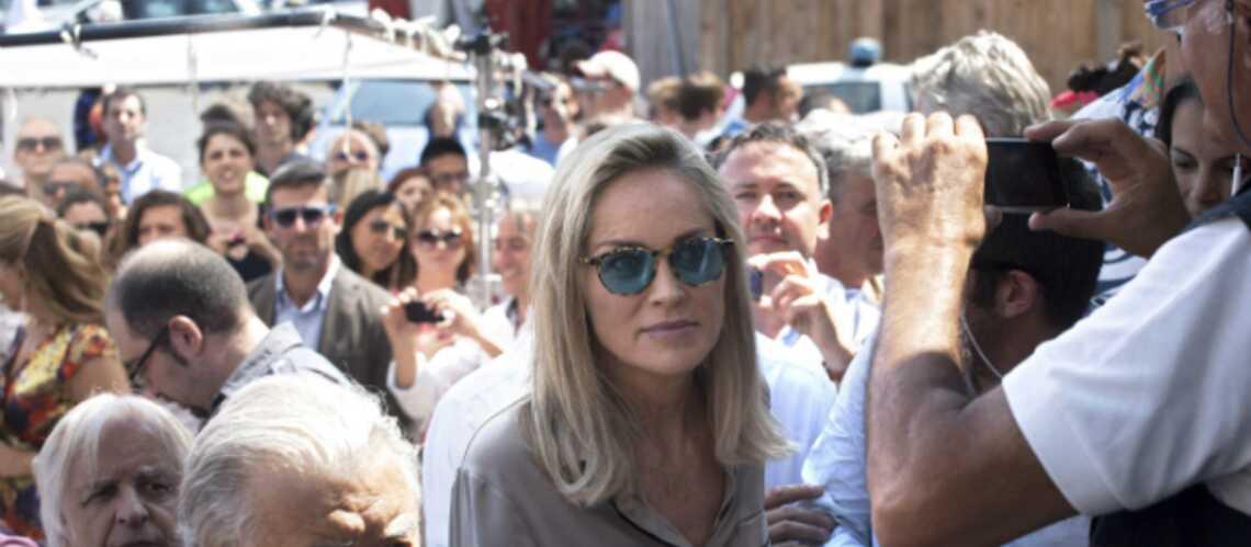Sharon Stone en tournage à Rome