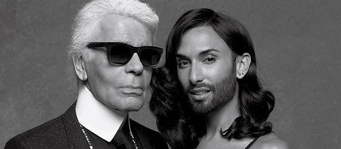 Conchita Wurst, nouvelle muse de Karl Lagerfeld