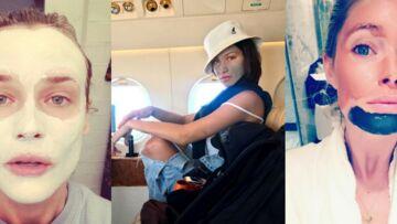 PHOTOS  – Quand les stars posent avec leur masque de beauté sur les réseaux sociaux