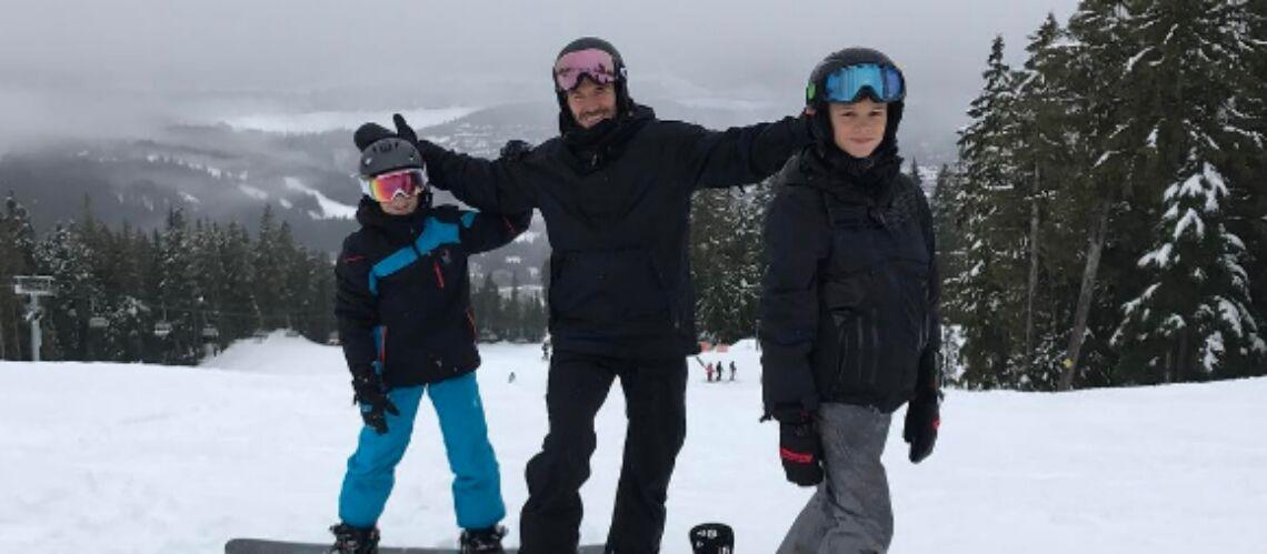 PHOTOS – La famille Beckham au ski