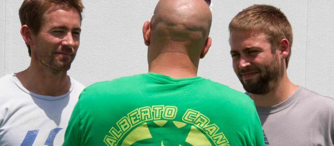 Vin Diesel en compagnie des frères de Paul Walker