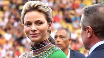 PHOTOS – Charlene de Monaco sculpturale dans une robe verte drapée