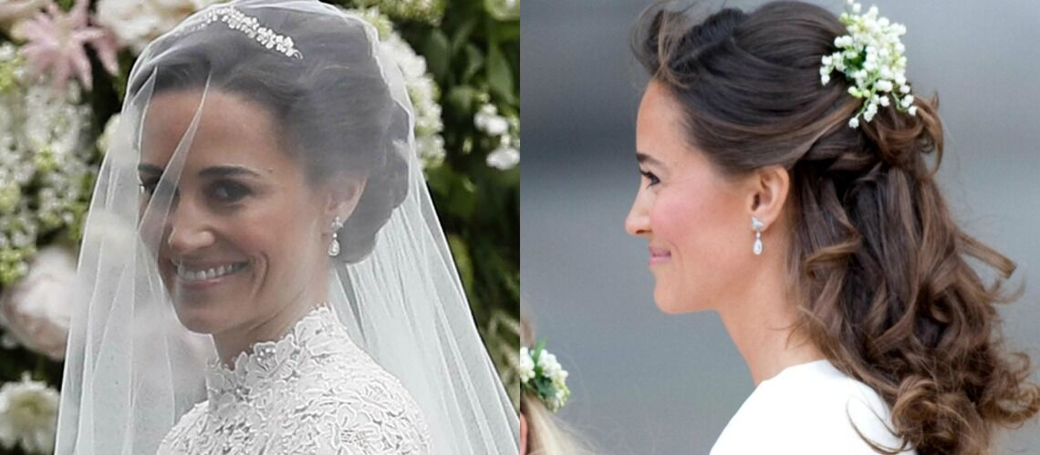 PHOTOS – Pour son mariage, Pippa Middleton portait les mêmes boucles d'oreilles qu'à celui de Kate et William