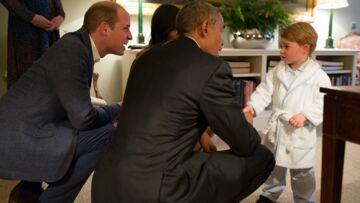 Photos- Première rencontre entre le prince George et Barack Obama
