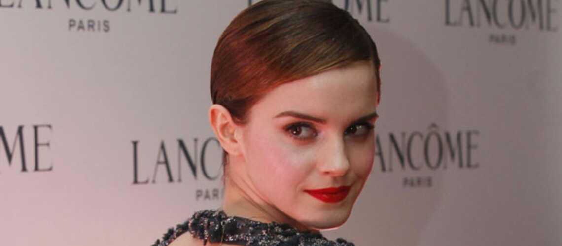 Emma Watson in love du nouveau rouge Lancôme