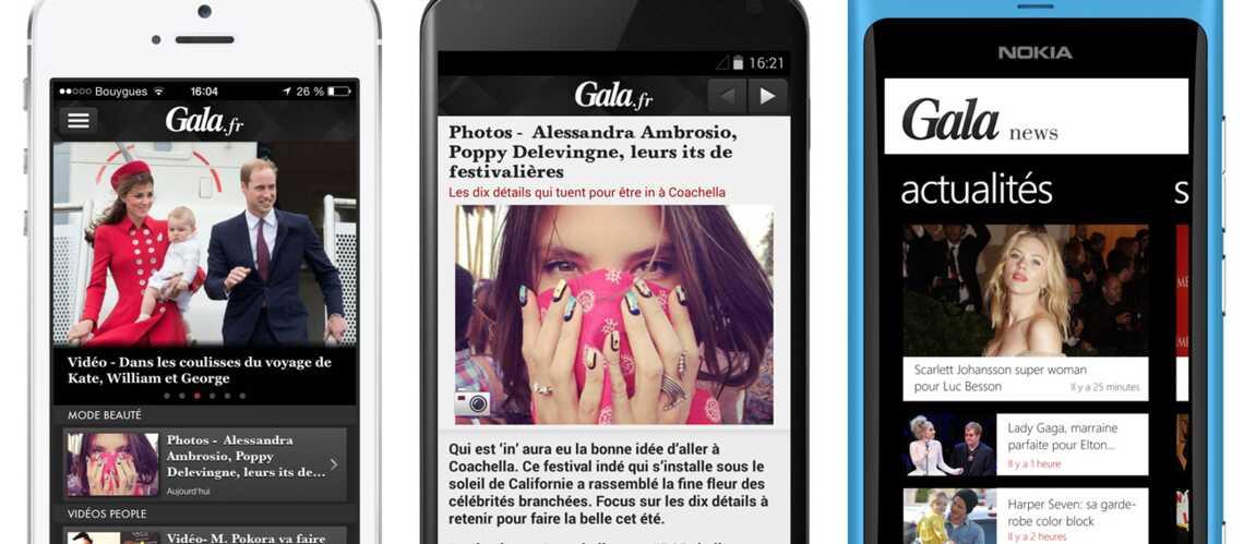 Découvrez l'application Gala sur votre mobile!