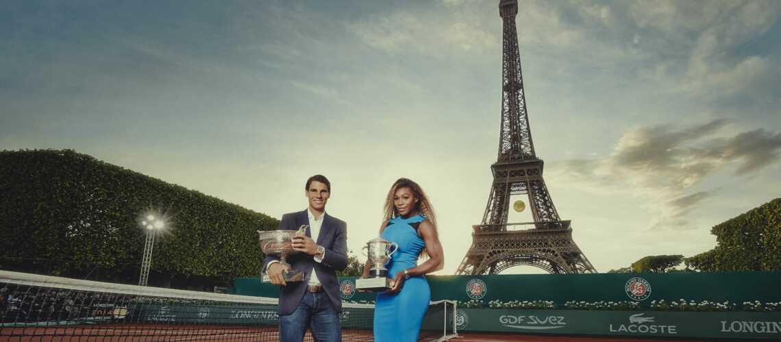 Photos- Serena Williams et Rafael Nadal lancent Roland-Garros