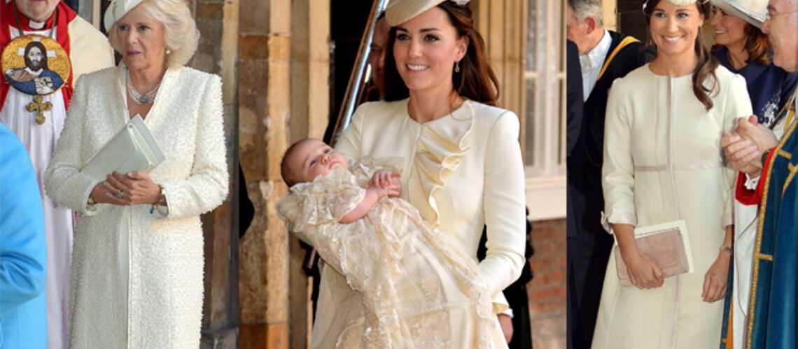 Photos – Royal Baptême: Kate, Pippa, Camilla, total-looks ivoire