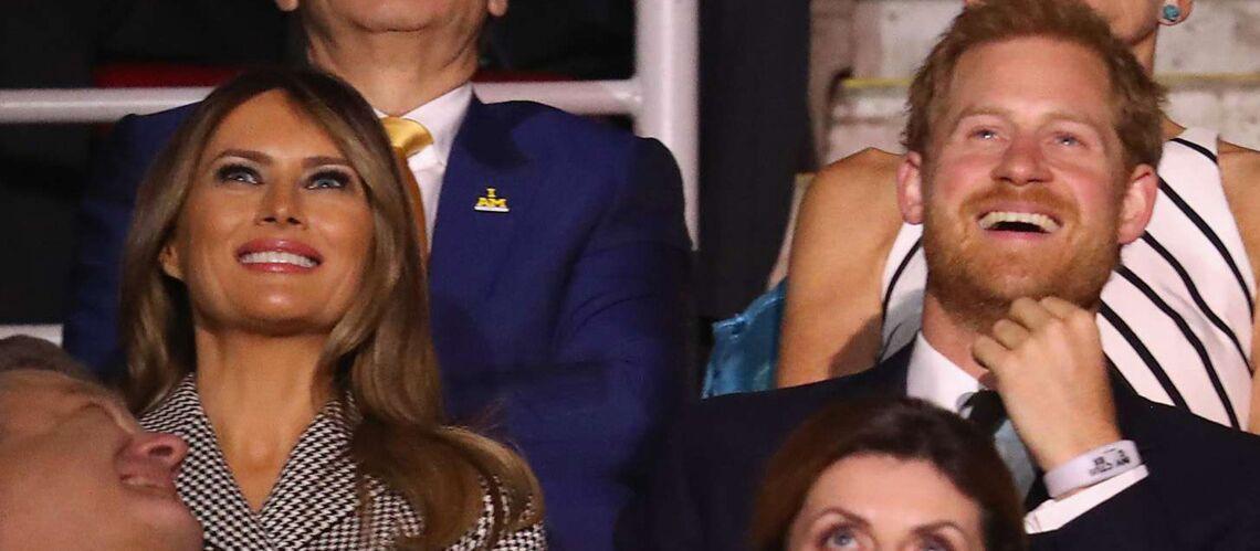 PHOTOS – Melania Trump enfin heureuse et épanouie au côté du prince Harry