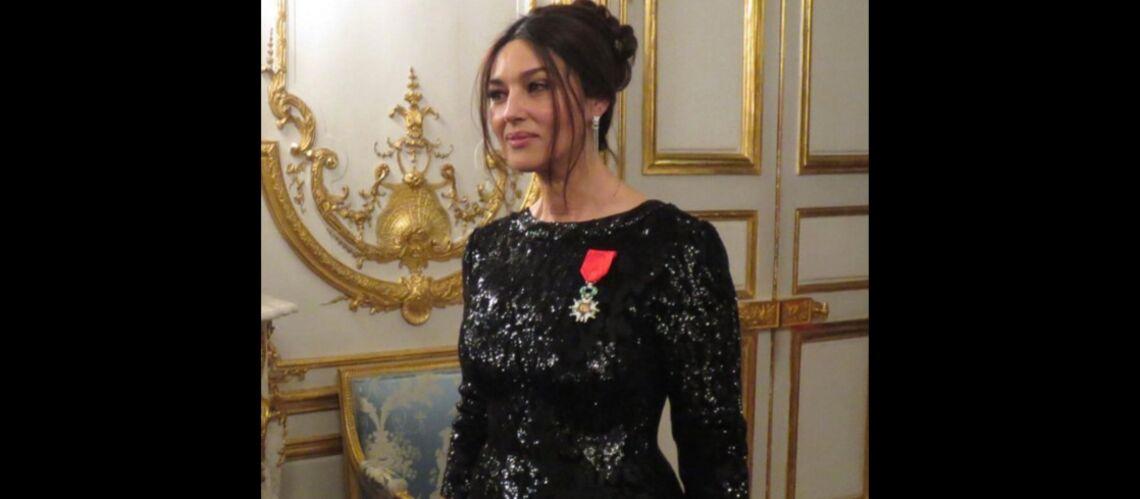 PHOTO – Sublime en madone italienne, Monica Belluci à l'Élysée pour sa légion d'honneur