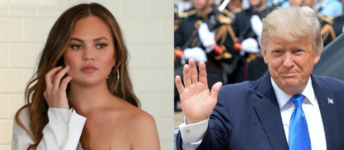 Donald Trump bloque Chrissy Teigen sur Twitter