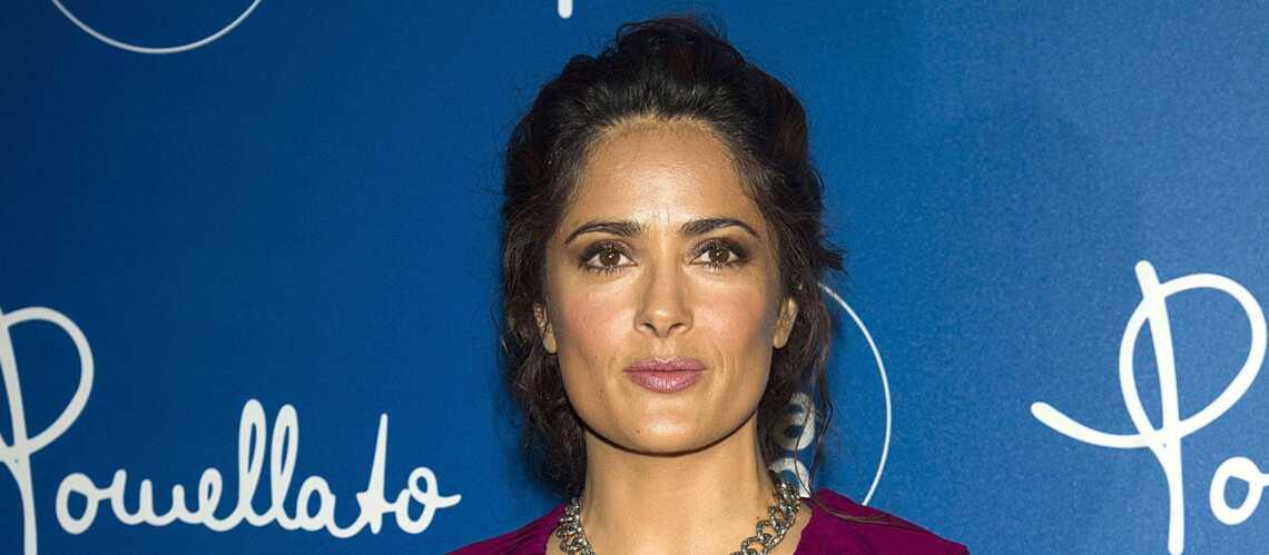 Salma Hayek, allure sophistiquée à la Fashion Week