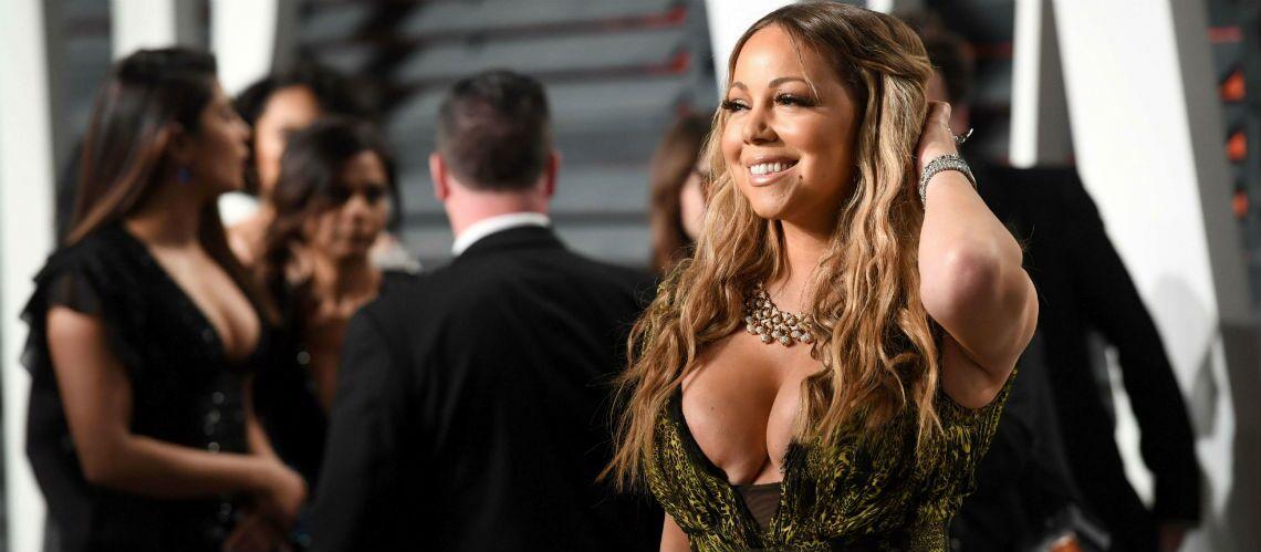Mariah carey montrant ses seins