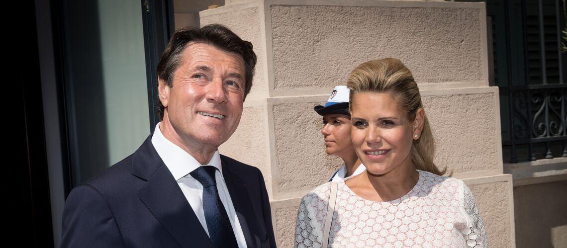 PHOTOS – Laura Tenoudji très enceinte, à quelques jours de son accouchement, avec Christian Estrosi au stade de Nice