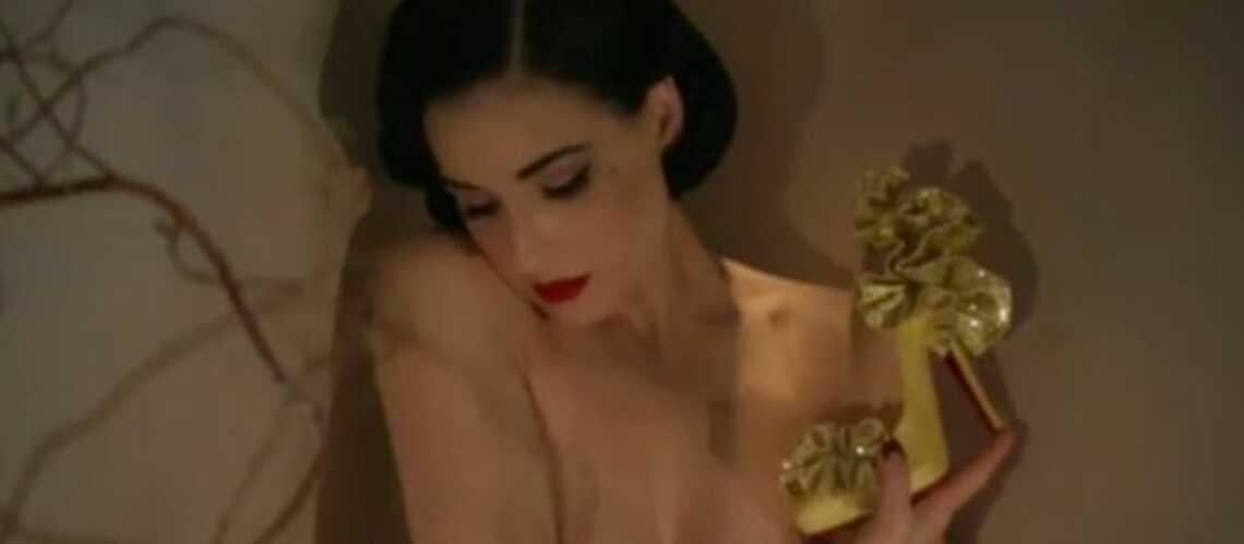Vidéo – Dita Von Teese, Arielle Dombasle, Mika pour Christian Louboutin
