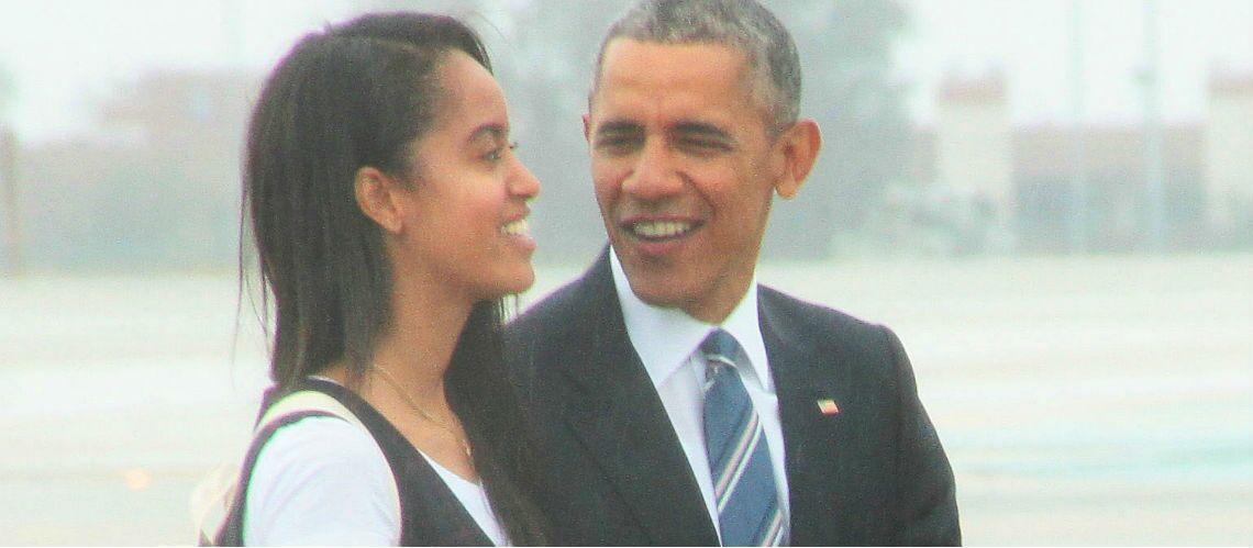 Barack Obama en larmes au moment de l'entrée de sa fille Malia à l'Université