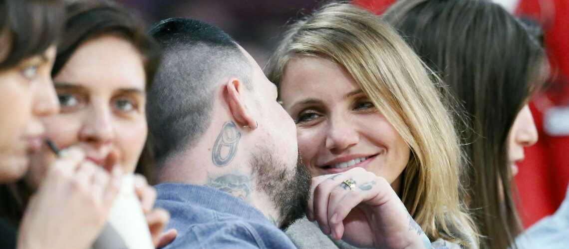 Cameron Diaz et Benji Madden, le baiser des mariés