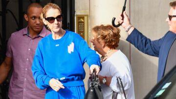 PHOTOS – Céline Dion: toujours originale, en ensemble jogging oversize bleu pour une sortie avec ses jumeaux