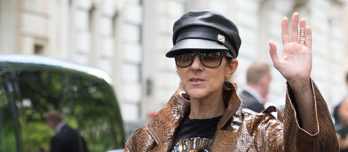 PHOTOS – Céline Dion en manteau de python et cuissardes en daim: va-t-elle trop loin?