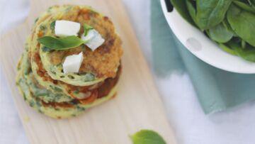 Blinis aux épinards et au gorgonzola