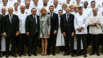 PHOTOS – Brigitte Macron sublime en robe zippée Louis Vuitton, la première dame n'a cure des polémiques sur son look