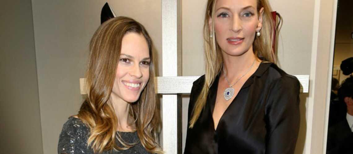 Gala By Night: soirée entre copines pour Hilary Swank et Uma Thurman