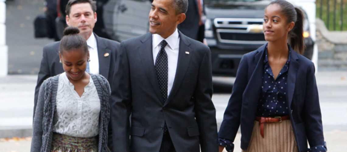 Sasha et Malia Obama ultrachics avec Papa