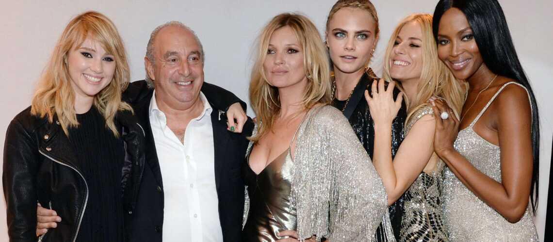 Photos – Kate Moss pour Topshop, soutenue par Sienna Miller et Naomi Campbell